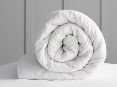 Microfiber Baby Quilt 95 x 145 cm - White / 100% Polyester