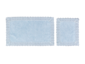 2 Piece Valeria Bath Mat Set 60 x 100 / 50 x 60 Cm - Tiffany