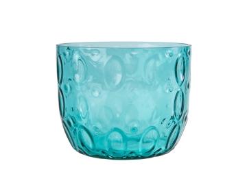 Vase 19.5 x 19.5 x 13.5 cm - Green / Blue
