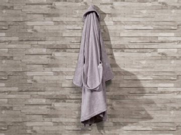 Pure Soft Cotton Bathrobe Women Size: S / M - Light Lilac