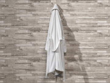 Pure Soft Cotton Bathrobe Women Size: S / M - White