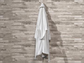 Pure Soft Cotton Bathrobe Women Size: L / XL - White