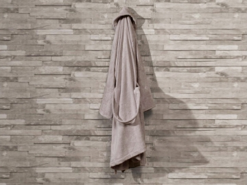 Pure Soft Cotton Bathrobe Women Size: S / M - Brown
