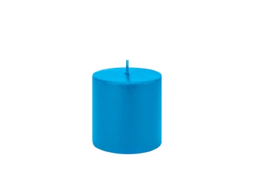 Sandy Candle 7 x 7 cm - Light Blue