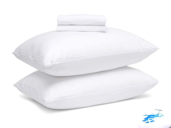 Waterproof Microfiber Pillow Protector 50 x 70 cm - White