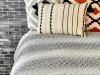 Dia Cotton Double Bedspread 200 x 225 cm - Black