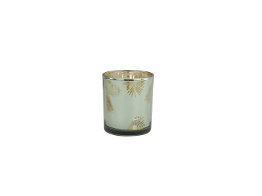 Leaf Candle Holder 7 x 8 cm - Green