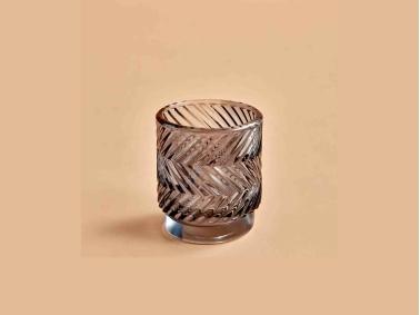 Wavy Tealight Candle  Holder 7 x 8 cm - Dark Grey