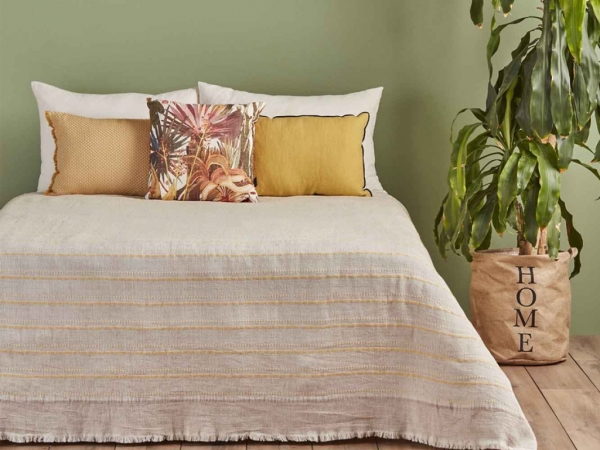 Steva Double Bedspread 220 x 240 cm - Yellow