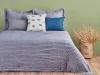 3 Pieces Mia Double bedspread Set 250 x 260 cm - Navy