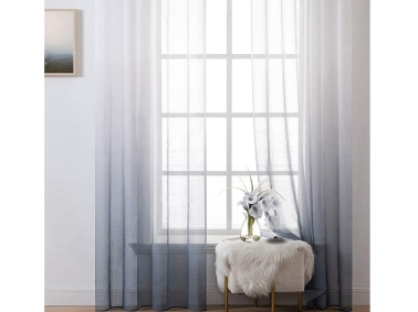 Sheer Curtain Room Ready - To - Use 140 x 270 cm - Black
