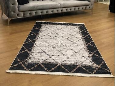 Lisbon Carpet Pattern Decorative 160 x 230 cm - Black