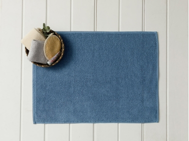Vanity Brass Foot Towel 50 x 70 Cm - Light Indigo