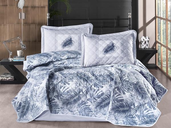 3 Pieces Puma V1 Double Bedspread Set 240 x 260 cm - Navy