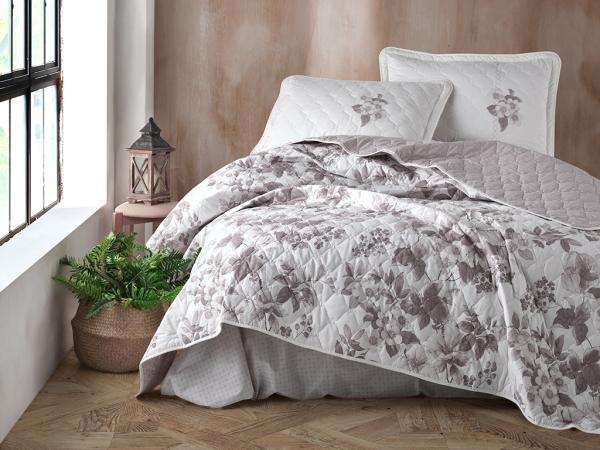 3 Pieces Miarosa V2 Double Bedspread Set 240 x 260 cm - Brown