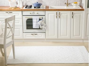 Boucle Cotton Rug 120 x 180 Cm - White