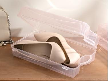 Loya Plastic Women Shoe Storage Box 33 x 18 x 10 cm - Powder