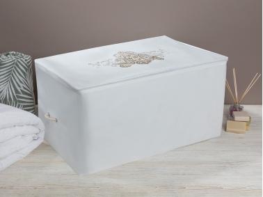 Lace Damask Saddle Bag 74 x 46 x 46 Cm - White