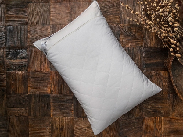 Cotton Quilted Pillow Protector 50 x 70 Cm - White