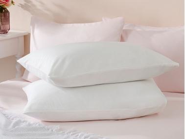 Plain Cotton 2 x Pillowcase 50 x 70 Cm - Off White