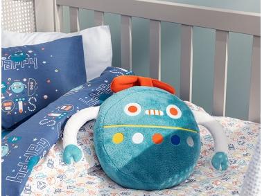 Happy Robots Decorative Pillow 32 x 25 - Green