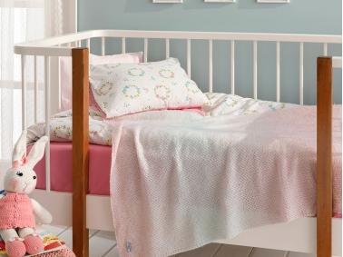 Degraded Single Baby Blanket 80 x 120 Cm - Pink