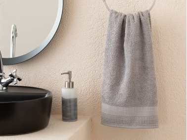 Stripes Striped Face Towel 50 x 76 Cm - Grey