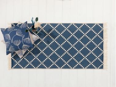 Mark Cotton Rug 80 x 150 Cm - Indigo