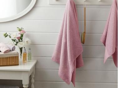 Pure Basic Bath Towel 70 x 140 Cm - Light Rose Dry