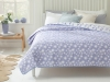 Leaflet Double Multi Purpose Bed Cover 200 x 220 Cm - Lilac