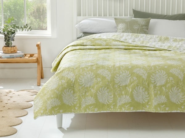 Shadowmoon Double Multi Purpose Bed Cover 200 x 220 Cm - Green