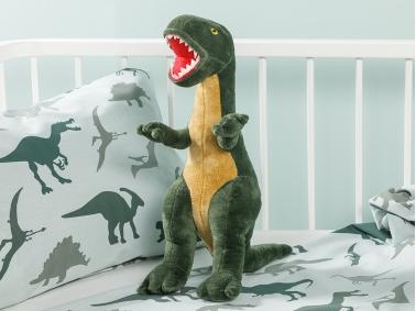 Dinosaurs Decorative Pillow 45 x 16 cm - Green