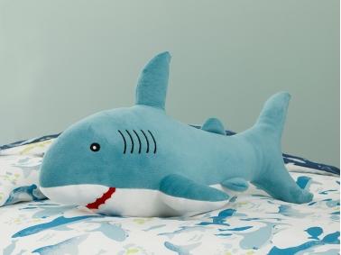 Big Shark Polyester Decorative Pillow 28 x 48 cm - Blue