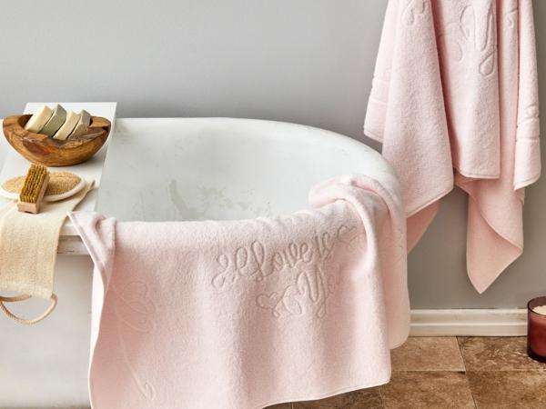 3 Pieces Love Is You Towel Set - Powder