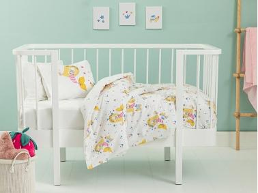 2 Pieces Little Mermaid Cotton Baby Duvet Cover Set 100 x 150 Cm - Pink