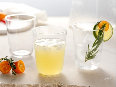 3 Pieces Hira Glass Soft Drink Cup Set 250 Ml - Transparent