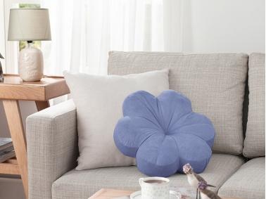 Bloom Velvet Decorative Cushion 40 x 40 Cm - Violet