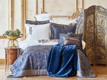 13 Pieces Venita Double Bedding Set 200 x 220 cm - Dark Blue