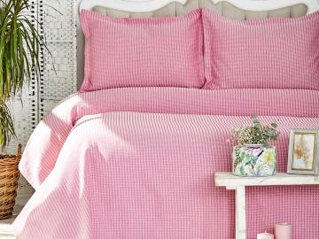 3 Pieces Cally Double Bedspread Set 230 x 240 cm - Fuchsia