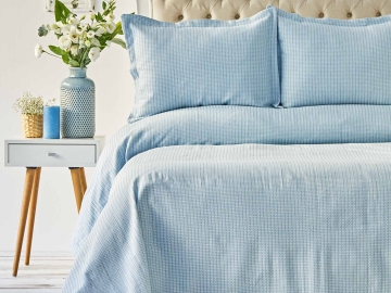 3 Pieces Cally Double Bedspread Set 230 x 240 cm - Turquoise