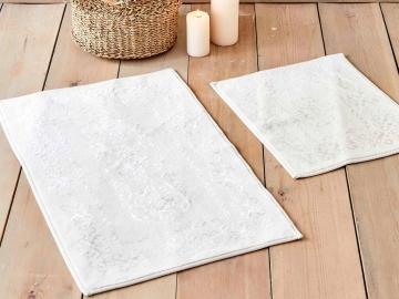2 Pieces Azalea Bath Mat Set 60 x 100 cm + 50 x 60 cm - Cream
