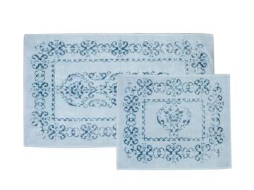 2 Pieces Azalea Bath Mat Set 60 x 100 cm + 50 x 60 cm - Aqua