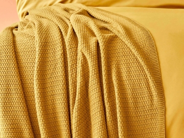 Basic Single Blanket 160 x 220 cm - Mustard