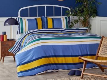 3 Pieces Dover Cotton Double Duvet Cover Set 200 x 220 cm - Multicolor