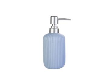 Line Ceramic Liquid Soap Dispenser 7 x 7 x 18 cm - Blue