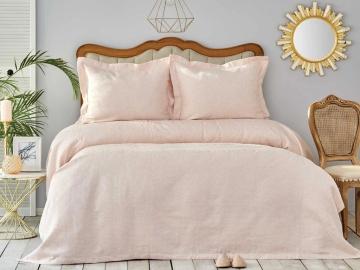 3 Pieces Double Liya Bedspread Set 240 x 250 cm - Powder