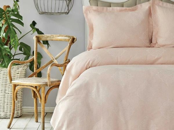 3 Pieces Double Eva Bedspread Set 240 x 250 cm - Powder