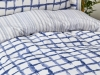 3 Pieces Malawi Single Duvet Cover Set 160 x 220 cm - Blue