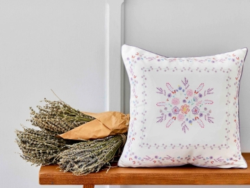 Levin Printed Decorative Cushion 45 x 45 cm - Lilac