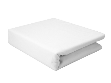 Double Bed Protector with Micro Rubber 160 x 220 cm - White